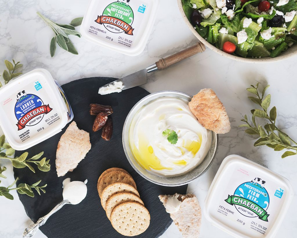 chaeban cheese spread, crackers